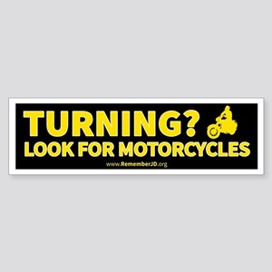 Turning Left? Look for Motorcycle Sticker (Bumper)