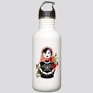 Nesting Doll In Flower Stainless Water Bottle 1.0L