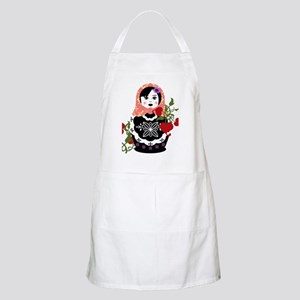 Nesting Doll In Flowers Apron