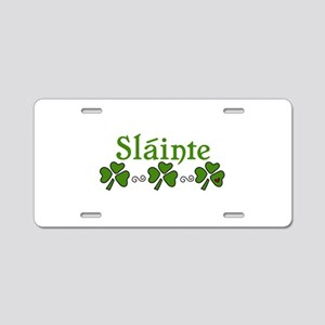 Slainte Aluminum License Plate
