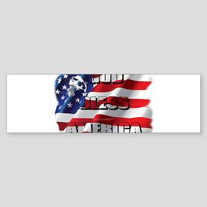 Patriotic God Bless America Sticker (Bumper)