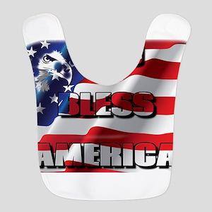 Patriotic God Bless America Bib