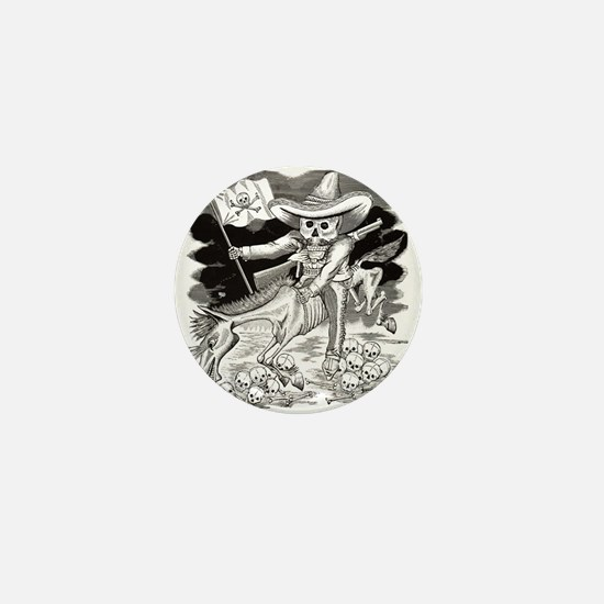 Calavera Zapatista - Zapata Mini Button