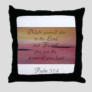 Psalm 37:4 Throw Pillow