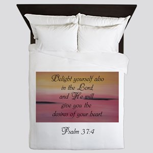 Psalm 37:4 Queen Duvet