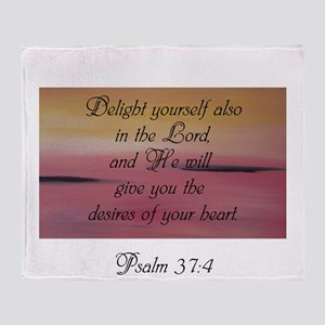 Psalm 37:4 Throw Blanket