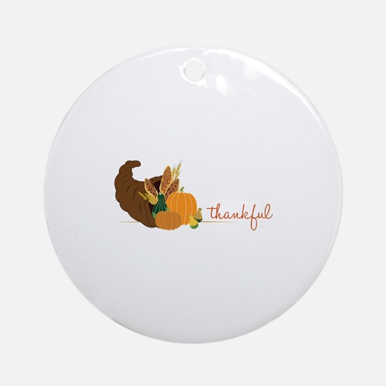 Thankful Ornament (Round)