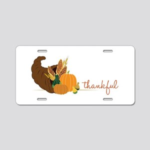 Thankful Aluminum License Plate