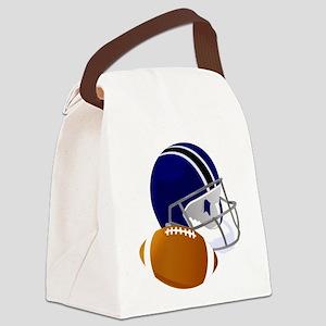 Football Helmet and ball Canvas Lunch Bag