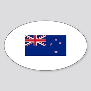 New Zealand Oval Sticker