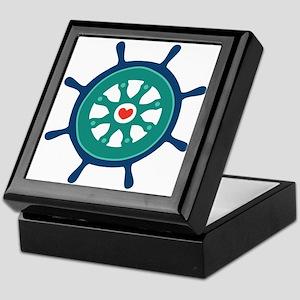 Ship Wheel Keepsake Box