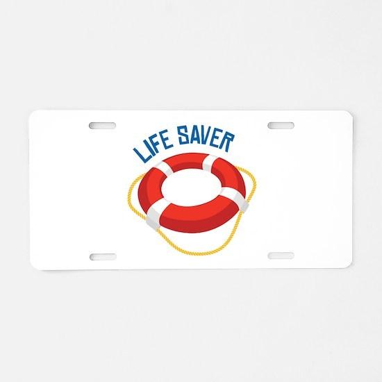 Life Saver Aluminum License Plate