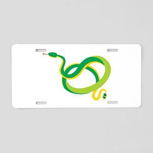 Green Snake Aluminum License Plate