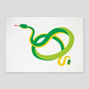 Green Snake 5'x7'Area Rug