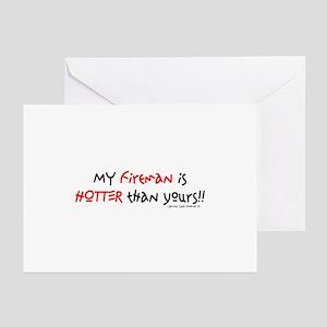 FIREMAN_1 Greeting Cards (Pk of 10)