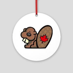 Canada Beaver Ornament (Round)