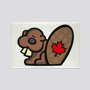 Canada Beaver Rectangle Magnet