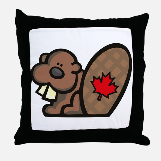 Canada Beaver Throw Pillow