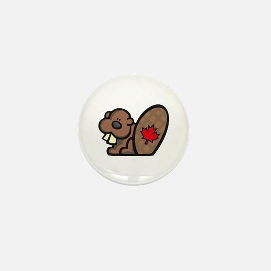 Canada Beaver Mini Button