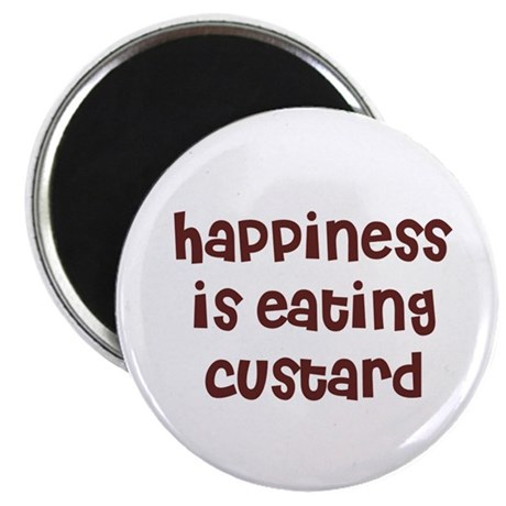 """happiness is eating custard 2.25"""" Magnet (10 pack)"""