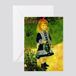 Renoir - A Girl with a Watering Can Greeting Card