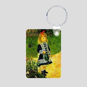 Renoir - A Girl with a Wat Aluminum Photo Keychain