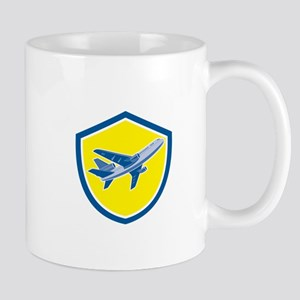 Commercial Airplane Jet Plane Airline Retro Mugs