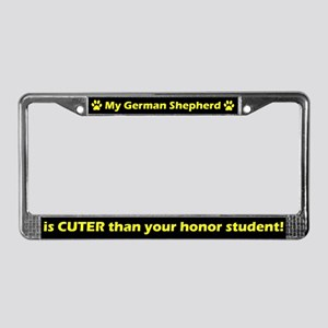 Honor Student German Shepherd License Plate Frame