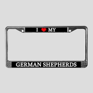 Love German Shepherds License Plate Frame