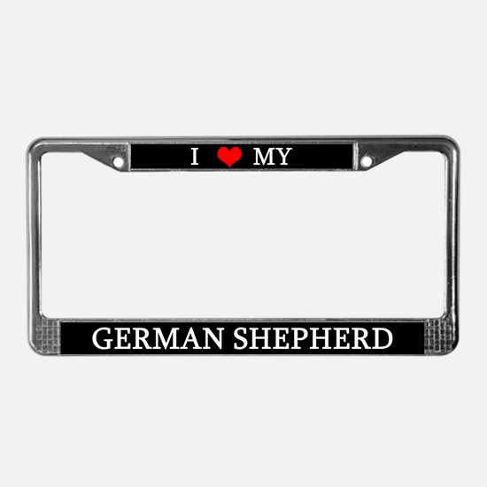 Love German Shepherd License Plate Frame