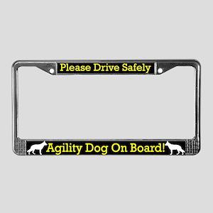 German Shepherd Agility Dog License Plate Frame