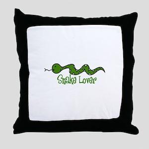 Snake Lover Throw Pillow