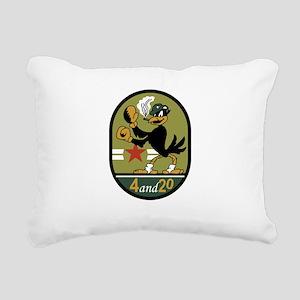 VA-45 Blackbirds Rectangular Canvas Pillow