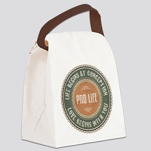 Pro Life Canvas Lunch Bag