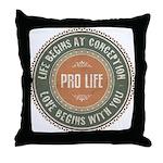 Pro Life Throw Pillow
