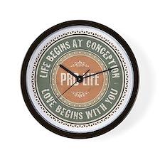 Pro Life Wall Clock