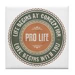 Pro Life Tile Coaster