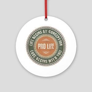 Pro Life Ornament (Round)