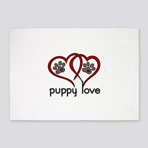 PUPPY LOVE 5'x7'Area Rug