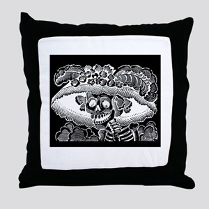 La Calevera Catrina - Posada Throw Pillow