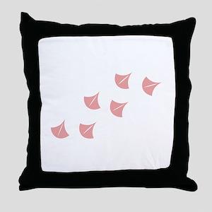 Flamingo Footprints Throw Pillow
