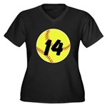 Custom Softball Plus Size T-Shirt