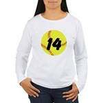 Custom Softball Long Sleeve T-Shirt