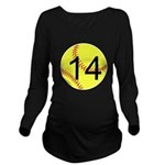 Custom Softball Long Sleeve Maternity T-Shirt