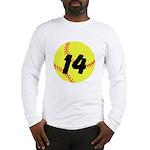 Custom Softball Long Sleeve T-Shirt