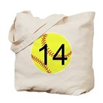 Custom Softball Tote Bag