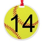 Custom Softball Ornament