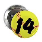 "Custom Softball 2.25"" Button (10 pack)"