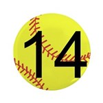 "Custom Softball 3.5"" Button (100 pack)"