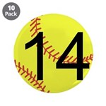 "Custom Softball 3.5"" Button (10 pack)"